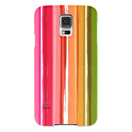 """Чехол для Samsung Galaxy S5 """"Радуга"""" - узор, радуга, рисунок, полосатый, детский рисунок"""