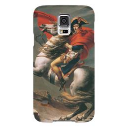 "Чехол для Samsung Galaxy S5 ""Наполеон на перевале Сен-Бернар (Жак-Луи Давид)"" - картина, давид"