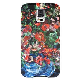 """Чехол для Samsung Galaxy S5 """"Пламя и лед"""" - любовь, красиво, цветочки, розы, буке"""