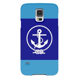 "Чехол для Samsung Galaxy S5 ""Морской разведчик"" - море, якорь, канат"
