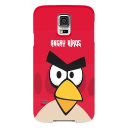 "Чехол для Samsung Galaxy S5 ""Angry Birds (Terence)"" - terence, злые птички, angry birds, мультфильм, компьютерная игра"