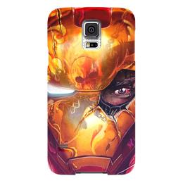 """Чехол для Samsung Galaxy S5 """"Железный человек"""" - комиксы, марвел, iron man, tony stark, тони старк"""