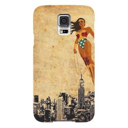 """Чехол для Samsung Galaxy S5 """"Чудо женщина"""" - комиксы, dc, wonder woman, чудо женщина, бэтмен против супермена"""