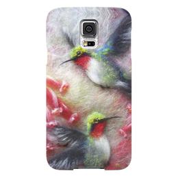 "Чехол для Samsung Galaxy S5 ""Колибри"" - арт, цветы, птицы, колибри"