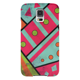 """Чехол для Samsung Galaxy S5 """"Яркая геометрия"""" - полосы, круги, геометрия, треугольники"""
