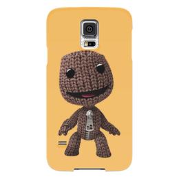 """Чехол для Samsung Galaxy S5 """"Сэкбой"""" - кукла, плейстейшн, человечек, платформер, тряпичный"""