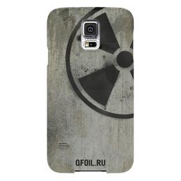 """Чехол для Samsung Galaxy S5 """"Логотип-трафарет"""" - сталкер, тёмная душа"""