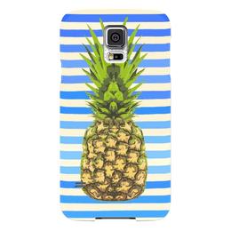 "Чехол для Samsung Galaxy S5 ""Ананас"" - лето, ананас, тельняшка, pineapple"