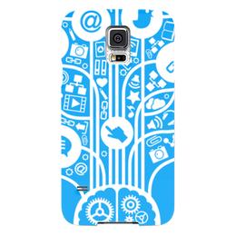 "Чехол для Samsung Galaxy S5 ""Интернет"" - интернет, твиттер, почта, телефон, паутина"