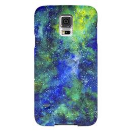 """Чехол для Samsung Galaxy S5 """"Космос (сине-зеленый)"""" - space, звезды, космос, вселенная, космический"""