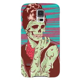 "Чехол для Samsung Galaxy S5 ""Одри Хепберн (зомби)"" - skull, череп, зомби, одри хепберн, икона стиля"