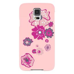 """Чехол для Samsung Galaxy S5 """"Цветы"""" - цветок, розовый, несколько"""
