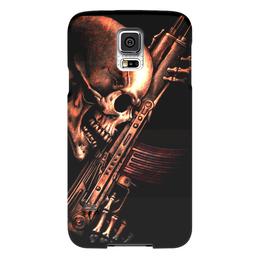 "Чехол для Samsung Galaxy S5 ""ДО КОНЦА!!!"" - skull, череп, weapon, ак, характер"