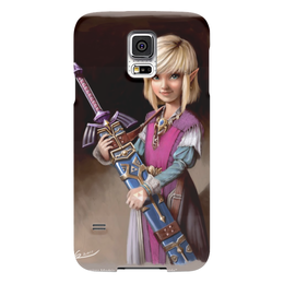 "Чехол для Samsung Galaxy S5 ""фентэзи"" - девочка с мечом"
