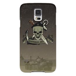 """Чехол для Samsung Galaxy S5 """"МОРСКАЯ ПЕХОТА!!!"""" - якорь, нож, морская пехота, чёрный берет, чере"""