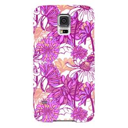 "Чехол для Samsung Galaxy S5 ""Purple blossom"" - арт, цветок, purple, паттерн, фиолетовый цветок"