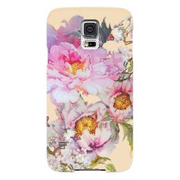 """Чехол для Samsung Galaxy S5 """"Цветочная акварель."""" - цветы, весна, акварель, цветочное"""