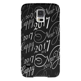 """Чехол для Samsung Galaxy S5 """"New Year 2017"""" - новый год, надпись, поздравление, 2017, красивый шрифт"""