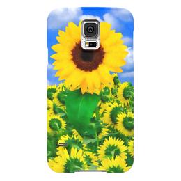 "Чехол для Samsung Galaxy S5 ""Подсолнух"" - лето, цветок, небо, облака, подсолнух"