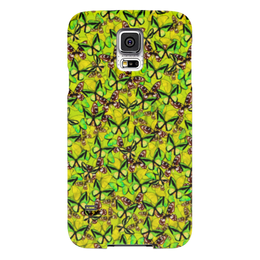 """Чехол для Samsung Galaxy S5 """"Ornithoptera"""" - бабочки, природа, текстура, фон"""