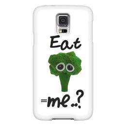 """Чехол для Samsung Galaxy S5 """"Eat me..?"""" - грусть, брокколи, broccoli, еда, мимими"""
