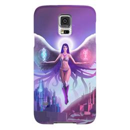 """Чехол для Samsung Galaxy S5 """"Ангел прошлого и будущего"""" - крылья, ангел, руны, будущее"""