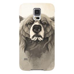 "Чехол для Samsung Galaxy S5 ""Медведь"" - bear, grizzly, ар, гриззли"