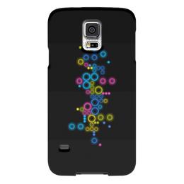 """Чехол для Samsung Galaxy S5 """"Психоделика 2"""" - пузырьки, цвет, абстракция, чёрный фон"""