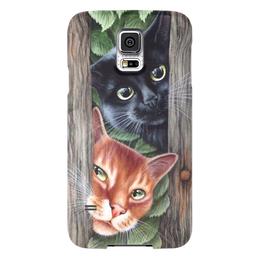 """Чехол для Samsung Galaxy S5 """"кошки"""" - стиль, красота, яркость"""