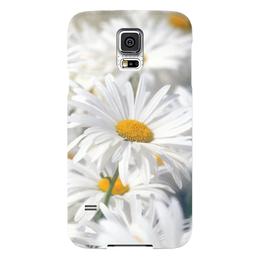 """Чехол для Samsung Galaxy S5 """"Ромашки"""" - цветы, цветок, белый, ромашка, желтый"""