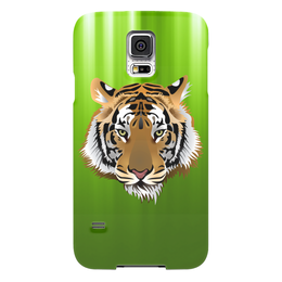 "Чехол для Samsung Galaxy S5 ""Взгляд тигра"" - рисунок, взгляд, тигр, джунгли"