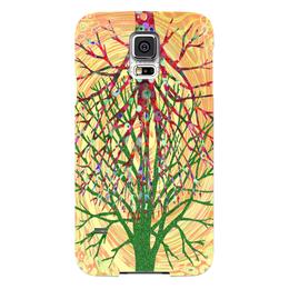 """Чехол для Samsung Galaxy S5 """"Перекати-поле"""" - растение, желтый, зеленый, розовый, перекати-поле"""