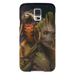 """Чехол для Samsung Galaxy S5 """"Ракета и Грут"""" - комиксы, марвел, стражи галактики, groot, rocket racoon"""