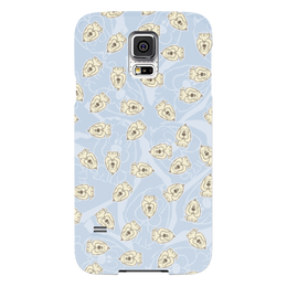 "Чехол для Samsung Galaxy S5 ""Собачки"" - dog, голубой, рисунок, собака, собачка"