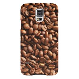 """Чехол для Samsung Galaxy S5 """"Кофейные зерна"""" - кофе"""