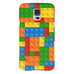 """Чехол для Samsung Galaxy S5 """"Конструктор Лего"""" - рисунок, детский, игрушка, конструктор, лего"""