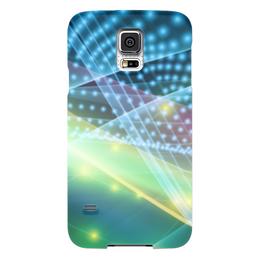 """Чехол для Samsung Galaxy S5 """"Абстракция"""" - абстракция, свет, линии, лучи, точки"""