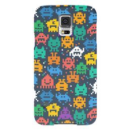 "Чехол для Samsung Galaxy S5 ""Монстры пиксели"" - minecraft, pacman, монстры, pixel art, пиксели"