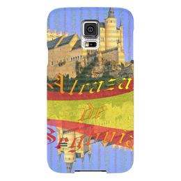 """Чехол для Samsung Galaxy S5 """"Средневековой испанский замок Сеговия."""" - желтый, испания, замок, полоски, крепость"""