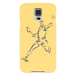 """Чехол для Samsung Galaxy S5 """"Большой теннис"""" - спорт, спортсмен, ракетка, мяч"""