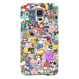 "Чехол для Samsung Galaxy S5 ""STICKERS"" - арт, дизайн, мульт, фэн-арт, аниме"