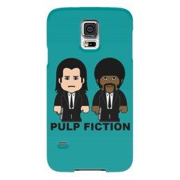 """Чехол для Samsung Galaxy S5 """"Pulp Fiction"""" - культовое кино, тарантино, джон траволта, сэмюэл лерой джексон, криминальное чтиво"""