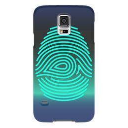 """Чехол для Samsung Galaxy S5 """"Отпечаток пальца"""" - узор, рисунок, пальцы, стильный, отпечаток"""