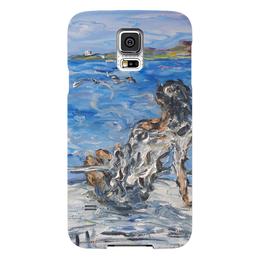 """Чехол для Samsung Galaxy S5 """"Мечта"""" - девушка, солнце, море, чайки, яхта"""
