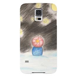 "Чехол для Samsung Galaxy S5 ""Полярная ночь"" - зима, ночь, снег, звёзды"