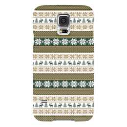 "Чехол для Samsung Galaxy S5 ""Скандинавский узор"" - узор, зима, орнамент, олень, снежинка"
