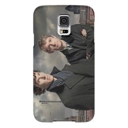"Чехол для Samsung Galaxy S5 ""Шерлок и Джон"" - лондон, англия, сериал, холмс, ватсон"