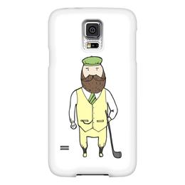 "Чехол для Samsung Galaxy S5 ""Джентльмен с клюшкой для гольфа"" - мяч, борода, джентльмен, гольф, клюшка"