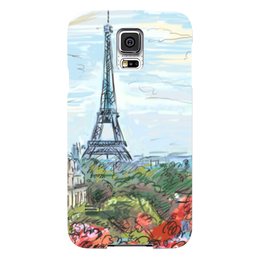 "Чехол для Samsung Galaxy S5 ""Эйфелева башня"" - графика, франция, париж, эйфелева башня"