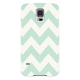 "Чехол для Samsung Galaxy S5 ""Светло-зеленый шеврон"" - pattern, шеврон, зигзаг, chevron"